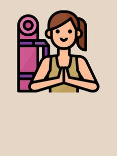 """""""Yoga Gym Fit Healthy Girl Hobby Avatar"""" T-shirt by passionemporium Avatar Cartoon, Yoga Gym, Cute Boys, Personalized Gifts, First Love, Finding Yourself, Animation, Healthy, Fitness"""