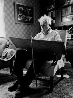 Eisenstaedt, Alfred (1898-1989) - 1955 Robert Frost at his desk, Ripton, Vermont   Flickr - Photo Sharing!