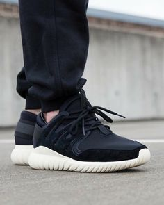 Adidas Tubular Nova Black On Feet