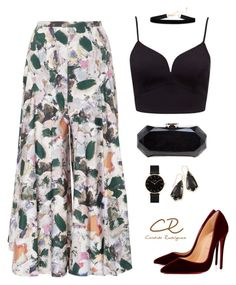 """""""Sin título #26"""" by candida-rodriguez-alba on Polyvore featuring moda, Christine Alcalay, Christian Louboutin, CLUSE, Kendra Scott y Chanel"""