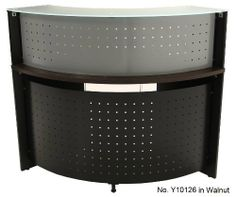 """90 Degree Corner Workstation . $319.00. 27-1/2"""" deep work surface with a 36-1/2"""" radius. Desk is 29-1/2"""" high. Glass top reception riser sold separately below. Ships unassembled. Shipping weight 77 lbs. PRICE INCLUDES FREIGHT! (Truck shipment - see Terms & Conditions). IN STOCK! Home Office Desks, Home Office Furniture, Kitchen Furniture, Corner Workstation, Freight Truck, Work Surface, Home Kitchens, Reception, Ships"""