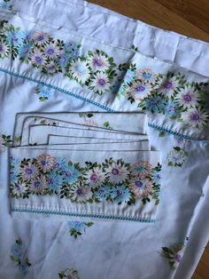Great sheet and one pillow case. This is in great shape and cute detail with flower border and baby blue lace? Just the right vintage touch for a cottage or camp Blanket Coat, Carpet Bag, Vintage Sheets, My Memory, Blue Lace, Baby Blue, Purses And Bags, To My Daughter, Pillow Cases
