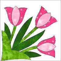 Manhã Designs glória: telhas de tulipas