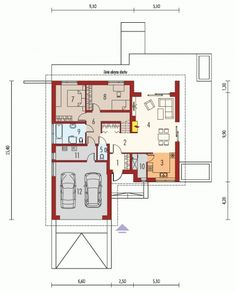 Single Story Modern Home Blueprints and Floor Plans for At Least 100 Square Meters Area Modern House Floor Plans, New House Plans, Thing 1, House Blueprints, Square Meter, Malaga, New Homes, Flooring, How To Plan