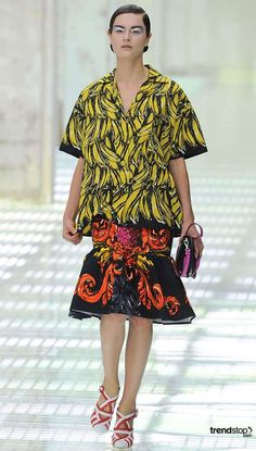 Tropical Fruit Fashions - Prada Goes Bananas for Spring Summer 2011 (GALLERY)