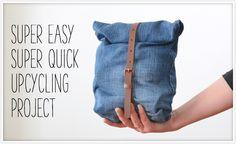 Perfektes Last-Minute-DIY, mit dem man einer ausgedienten Jeans Zeit ein neues Leben schenken kann!Für dieses super einfache Upcycling-Projekt braucht man im Grunde nur eine alte Jeans (je weiter das Hosenbein, desto größer der Stauraum – daher eignen sich z.B. Boyfriend-Jeans … weiterlesen