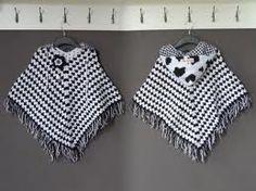 zwart/witte kinder poncho