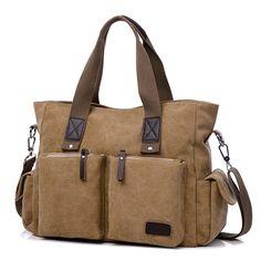 Large Capacity Men Women Canvas Multifunctional Crossbody Bag Canvas Outdoor Han - US$29.61