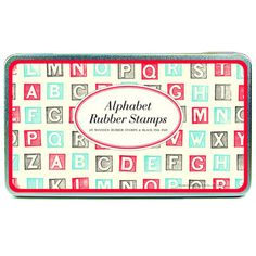 Cavallini Alphabet Blocks Rubber Stamp Set by ThePaperParlourUK, £17.99