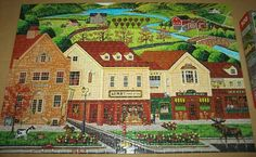 MEGA+AMERICANA+COLLECTION+JIGSAW+PUZZLE+Art+Poulin+MOOSE+STROLL+DOWN+MAINSTREET+500+pc+COMPLETE