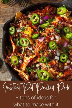 An easy recipe for the best damn Instant Pot Pulled Pork ever! Plus so many ideas for what to do with it! Make tacos, nachos, loaded fries, sliders, grilled cheese, mac and cheese, and more. Learn what cut of meat to buy, how to shred it, and even what sides to serve it with. You won't find a better pulled pork recipe or more tips and tricks than right here! #instantpotpulledpork #pulledporkrecipe #thewickednoodle Barbecue Pulled Pork, Pulled Pork Tacos, Pulled Pork Recipes, Nachos Loaded, Mac And Cheese, Ground Beef, Healthy Dinner Recipes, Sliders, Holiday Recipes