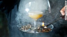 """Gin is infused with with """"gunpowder flavors"""" and shaken with fernet branca and egg white."""