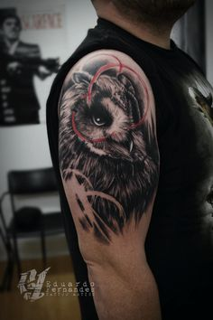 Owl Tattoo Trash Polka