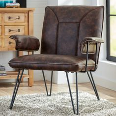 Features:  -Faux leather upholstery.  -Metal legs with blue-gray powder-coated finish.  Upholstered: -Yes.  Frame Material: -Metal.  Upholstery Material: -Faux leather.  Frame Finish: -Black. Dimensio