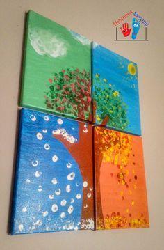 4 Jahreszeiten Bild – Silvia Fantini – Join the world of pin Craft Activities, Preschool Crafts, Diy And Crafts, Crafts For Kids, Arts And Crafts, Fall Crafts, Christmas Crafts, Art N Craft, Drawing Challenge