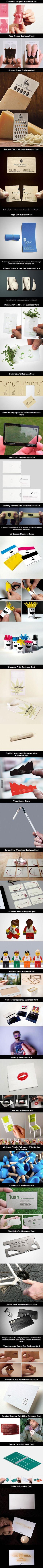 Geniale ideeën voor visitekaartjes!