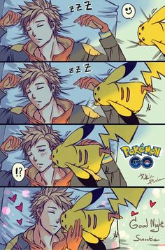 "*read with ""I just cant way to be king"" rythm* I wanna be that pikachu, so i can kiss Spark"