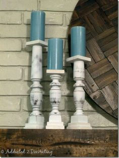 Stairwell spindles into tall candle holders! Loving this idea!