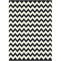 Milliken Black & White Vibe Techno Black Rug $99. 3' x 5' Chevron #giveaway #giftidea