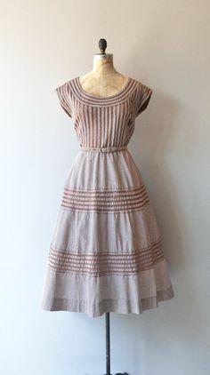 Around and Around dress vintage 1950s dress brown by DearGolden