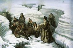Lars-Levi Laestadius saarnaamassa saamelaisille Biardin maalauksessa vuodelta 1840.