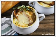 Get ready to cry some happy tears, because you have found a VEGAN French Onion Soup. This soup is rich, savory & downright scrumptious. It's calls for very simple ingredients and just a little love. This bistro-style classic can be yours in no time. Vegan Soups, Vegetarian Recipes, Healthy Recipes, Healthy Food, Vegan Meals, Healthy Cooking, Vegan Vegetarian, Easy Recipes, Soup Recipes