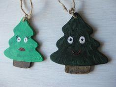 Set of Two Original Art Christmas Tree by kellygormanartwork, $9.00