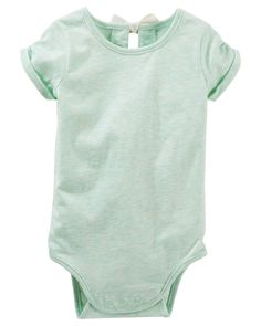 Baby Girl Bow-Back Bodysuit | OshKosh.com