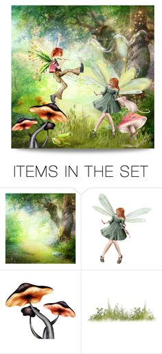 """""""show-off"""" by collagette ❤ liked on Polyvore featuring art and fairies"""