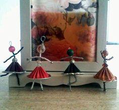 Ballerinas ready for the show! Capsules of nespresso.