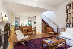 love the rug and all the wood