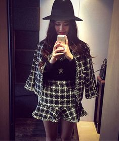 Cheap skirt set, Buy Quality women 2 piece directly from China winter winter Suppliers: Orgreeter Autumn Winter Women's 2 Piece Fishtail Skirt Set Tweed Plaid ladies beaded jacket + Slim Bodycon Mini Skirts