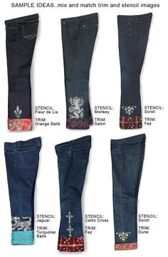 Custom Jeans..... Oh the possabilities