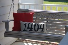 House number pillow for front porch (for when I finally get my real front porch I think @LauraHelen VanWinkle needs one of these.
