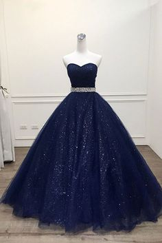 New Arrival Navy Blue Sequin Long Prom Dress, Custom Made Women Party Gowns ,Long Evening Dress - Style Evening Dresses Cute Prom Dresses, Elegant Dresses, Homecoming Dresses, Formal Dresses, Navy Blue Quinceanera Dresses, Dresses For Girls, Wedding Dresses, Long Dresses, Bridesmaid Gowns
