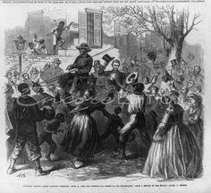 President Lincoln riding through Richmond, VA April 4, 1865