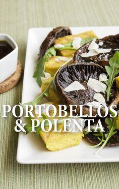 The Chew: Mario Batali Grilled Balsamic Portobello Mushrooms Recipe Polenta Recipes, Bacon Recipes, Side Recipes, Veggie Recipes, The Chew Recipes, Fall Recipes, Great Recipes, Favorite Recipes