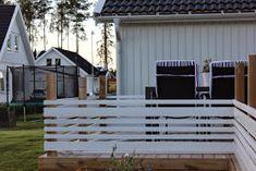 Polsjtärnegatan: Altanräcke och trappa