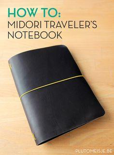 2016 Agenda: Making a Midori Traveler's Notebook cover - Plutomeisje Diy Notebook, Notebook Covers, Midori Travelers Notebook, Bujo Inspiration, Leather Notebook, Handmade Books, Book Binding, Creations, Lettering
