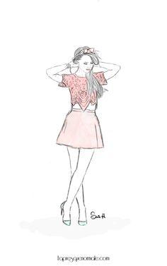 Fashion sketch blogueuses and youtubeuses