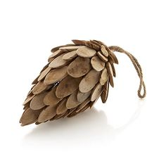 Wood Pinecone, small $9.95 Crate & Barrell