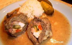 Španělský ptáček Russian Recipes, Baked Potato, Stew, Mashed Potatoes, Food And Drink, Eggs, Chicken, Meat, Baking