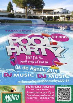 Pool Party en El Paraíso Restaurante & Country Club Estepona