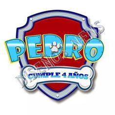 Logo Personalizado Imprimible Paw Patrol Patrulla Canina - $ 50,00