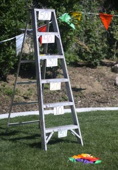 Backyard Graduation Party Games - Ladder Toss...actually, the Twister game is tops!