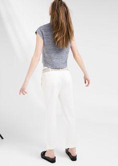 PREMIUM - Kimono-belt trousers #MANGOPremium