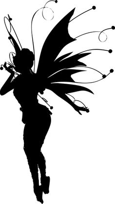 Creature Faery Fairy - Free vector graphic on Pixabay Fairy Silhouette, Silhouette Clip Art, Fairy Stencil, Backgrounds Girly, Fairy Jars, Art Journal Techniques, Girly Pictures, Fairy Dolls, Disney Drawings