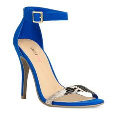 JustFab BERENICE Blue Heeled Sandals, £35