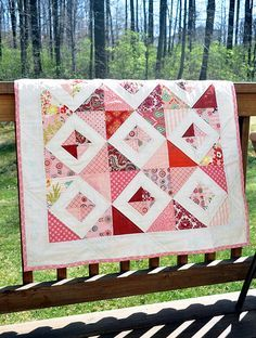 'Little Pink quilt' created by Tracy of tracyjay quilts.