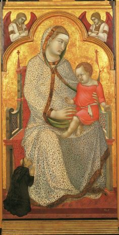 Virgin and Child Enthroned and Donor, AngelsPietro Lorenzetti Philadelphia Museum of Art